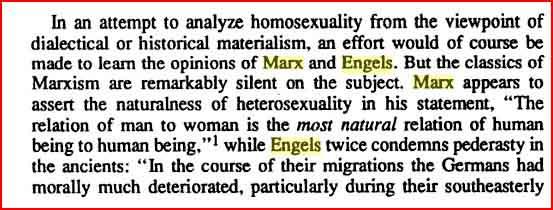 Karl Marx on homosexuality