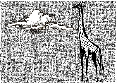 giraffe graphic art