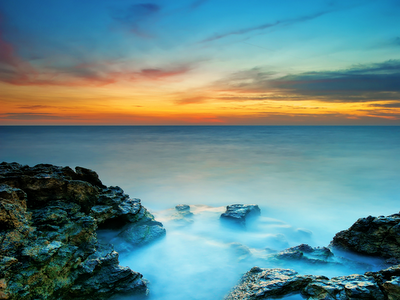 sea coast, landscape, blue, nature