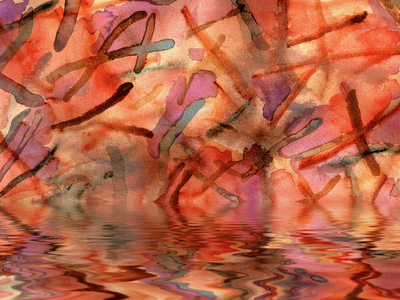 flood water color wallpaper, art composite