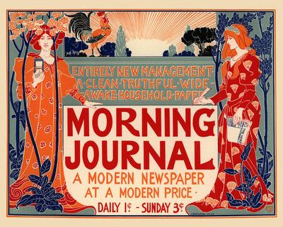 old poster, print journalism,
