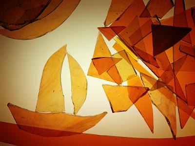 amber glass boat wallpaper