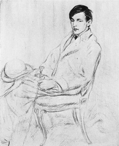 study of a young man by william glackens,1903