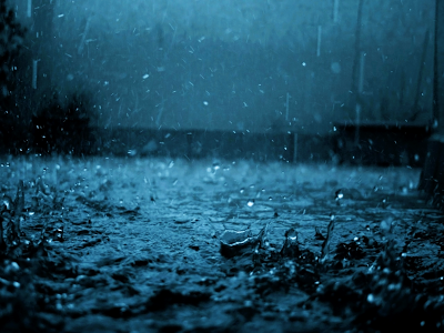 blue rain storm wallpaper