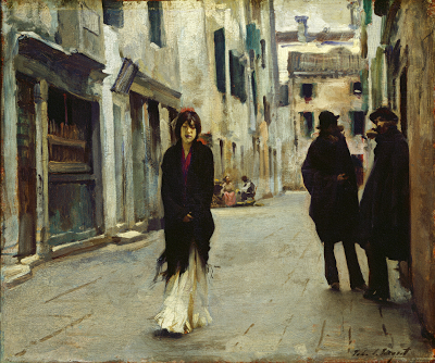 Street in Venice  John Singer Sargent 1882 oil on wood