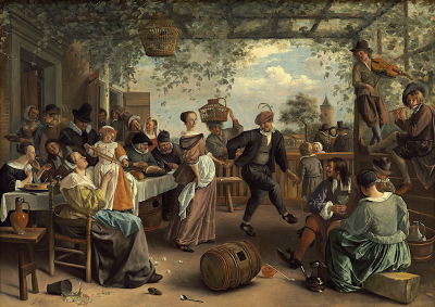 The Dancing Couple,  Jan Steen, 1663. Oil on canvas