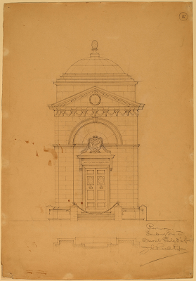 Tomb of Dante, c. 1898 by  John Russell Pope