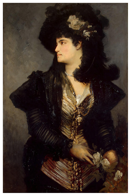 Portrait of a Woman by Hans Makart
