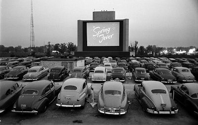 Drive-in theater, Los Angeles, 1949
